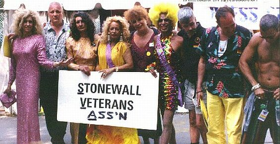 Stonewall Veterans after Stage Appearance at Central Park Gay Pride Rally